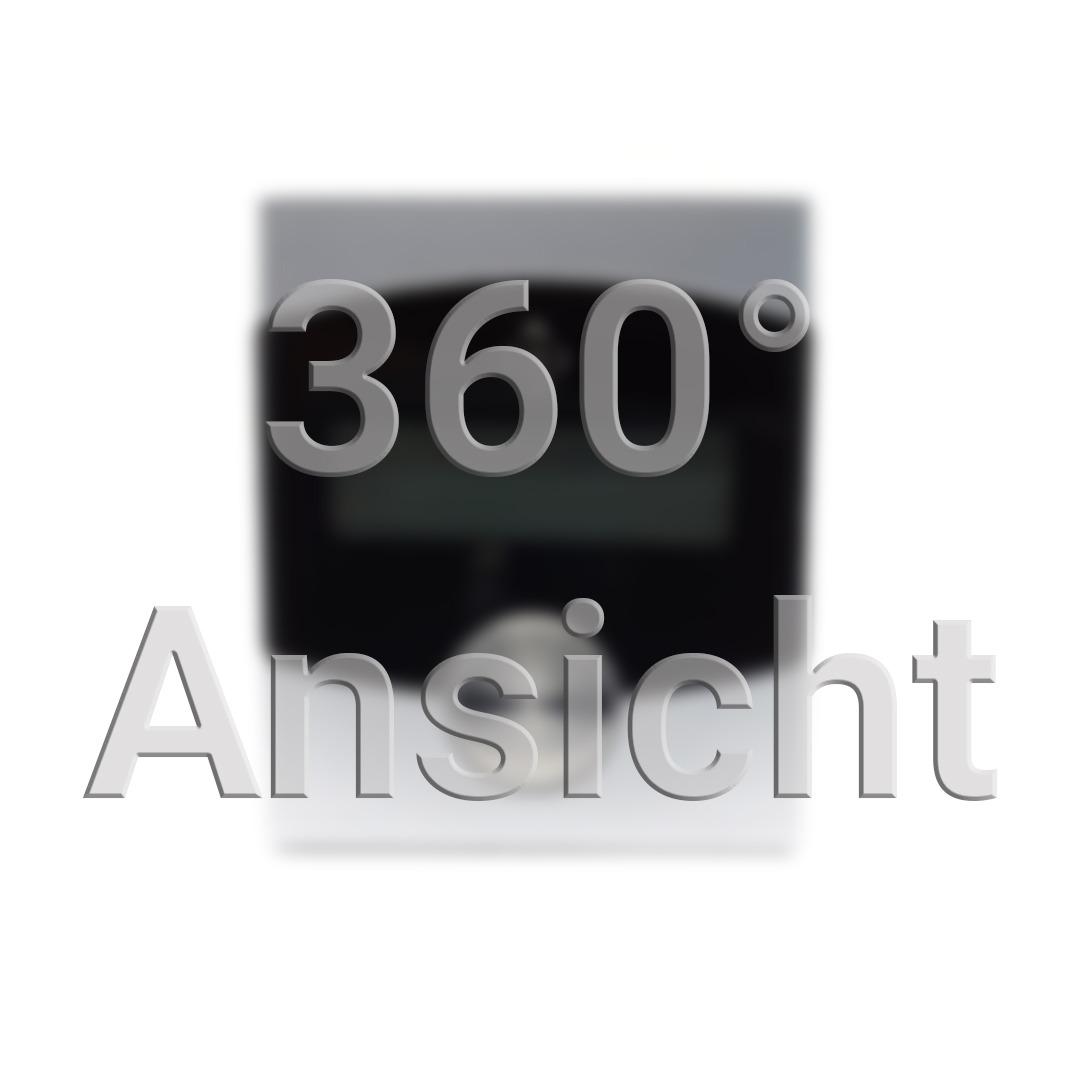 360° Ansicht Vorschaubild. Optisches Auslesegerät für Wasser/Strom/Gaszähler. Silberschwarzes Gehäuse mit kleinem Display und Button.