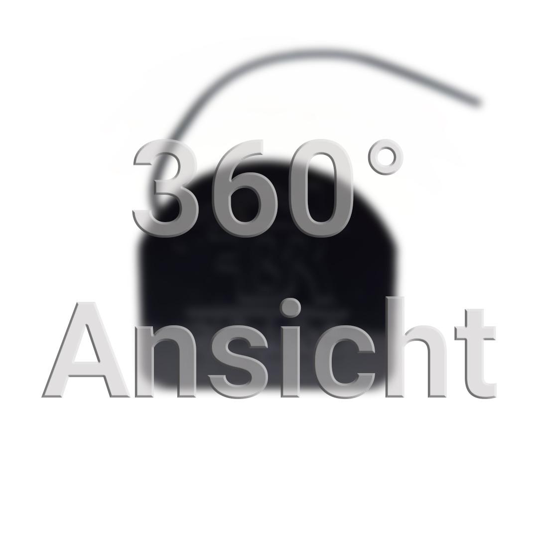 360° Ansicht Vorschaubild. Fibaro RGBW mit schwarzem Gehäuse, Antenne und dem Fibaro Logo.